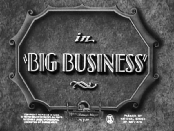 Big Business 1929 title card